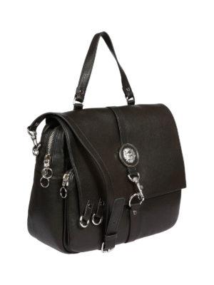 Versus Versace: shoulder bags online - LION HEAD DETAIL LEATHER SATCHEL