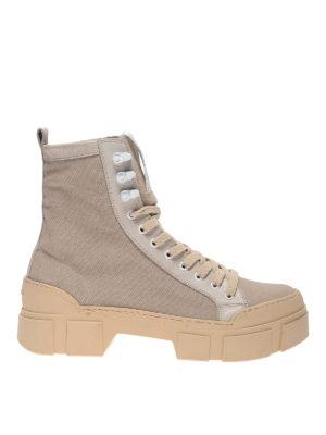 Vic Matiè: ankle boots - Maxi sole canvas boots