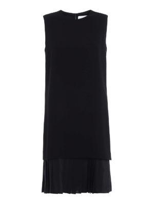Victoria Beckham: knee length dresses - Pleated bottom soft crepe dress