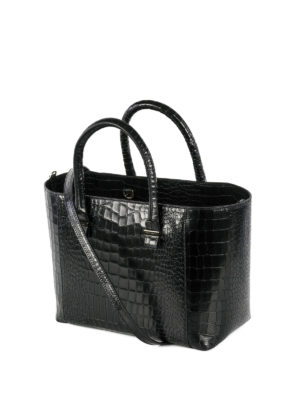 Victoria Beckham: totes bags online - Quincy croco printed leather tote
