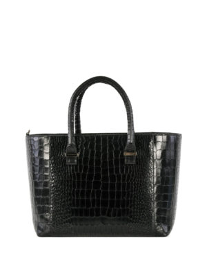 Victoria Beckham: totes bags - Quincy croco printed leather tote