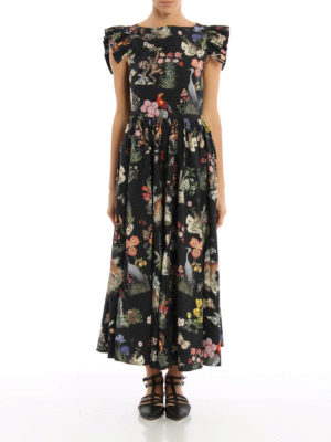Vivetta: maxi dresses online - Alligatore cotton maxi dress