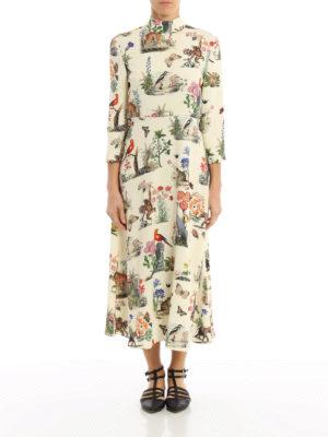 Vivetta: maxi dresses online - Pangolino printed cady maxi dress