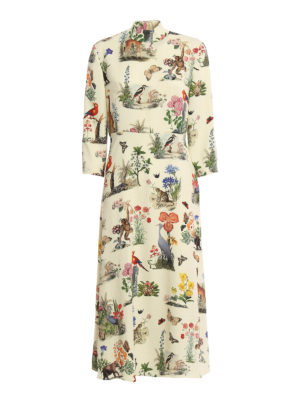 Vivetta: maxi dresses - Pangolino printed cady maxi dress