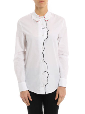 Vivetta: shirts online - Storno embroidered cotton shirt