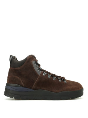 Woolrich: ankle boots - Brushed brown suede hiker boots