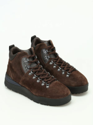 Woolrich: ankle boots online - Brushed brown suede hiker boots