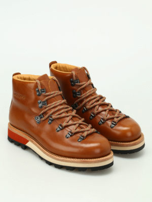 Woolrich: ankle boots online - Smooth leather hiker boots