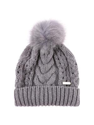 WOOLRICH: berretti - Berretto in lana con targhetta in metallo