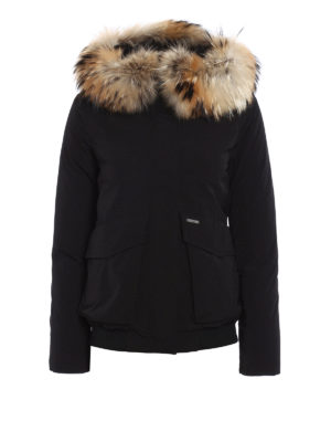 Woolrich: bombers - Military padded bomber with fur