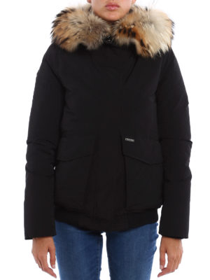 Woolrich: bombers online - Military padded bomber with fur