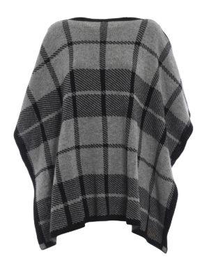 WOOLRICH: Mantelle e poncho - Poncho in misto lana jacquard a quadri
