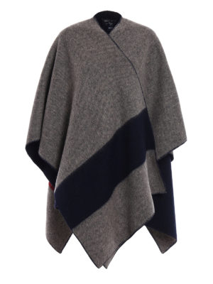 Woolrich: Capes &  Ponchos - Wool blend reversible cape