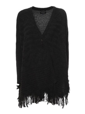 Woolrich: cardigans - Fringed cardigan pin detail