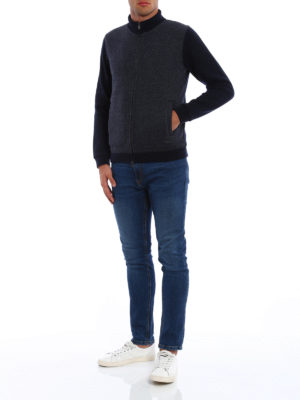 Woolrich: cardigans online - Wool blend zipped cardigan