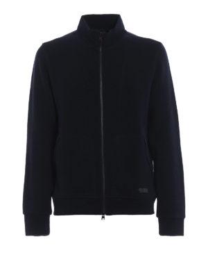 WOOLRICH: cardigan - Cardigan misto lana con zip