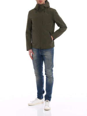 Woolrich: casual jackets online - Pacific green hooded windbreaker