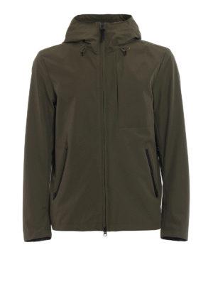 Woolrich: casual jackets - Pacific green hooded windbreaker
