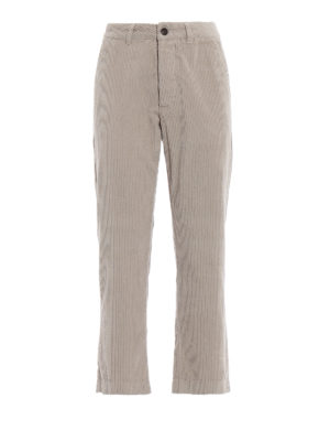 WOOLRICH: pantaloni casual - Pantaloni in velluto a costine