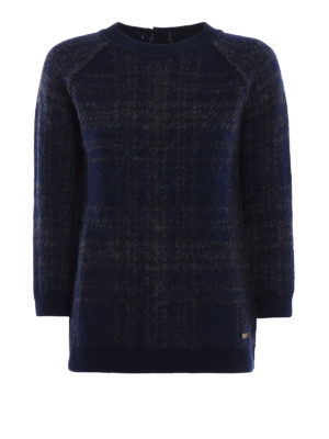 Woolrich: crew necks - Brushed sweater with back buttons