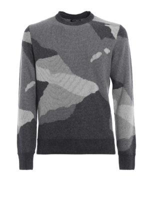 WOOLRICH: maglia collo rotondo - Pullover in misto lana camouflage