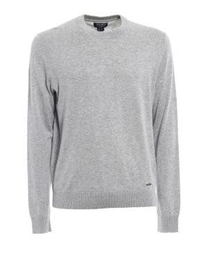 Woolrich: crew necks - Grey cotton crew neck pullover