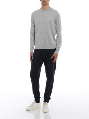 Woolrich: crew necks online - Grey cotton crew neck pullover