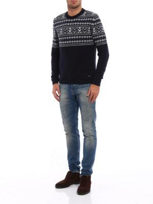 Woolrich: crew necks online - Jacquard wool blend heavy sweater