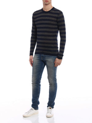 Woolrich: crew necks online - Striped linen sweater