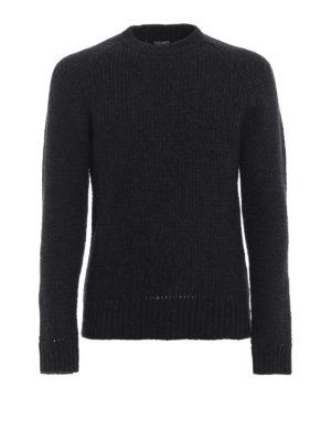 WOOLRICH: maglia collo rotondo - Maglione misto cashmere con manica raglan