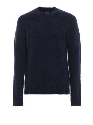 WOOLRICH: maglia collo rotondo - Maglione in lana e cashmere con manica raglan