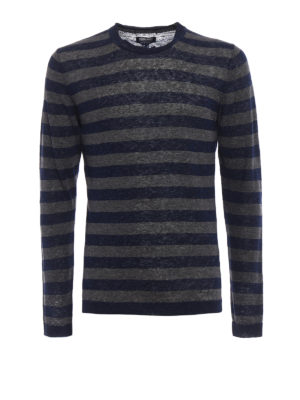 Woolrich: crew necks - Striped linen sweater