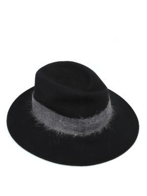 WOOLRICH: cappelli - Cappello in feltro con fascia a contrasto