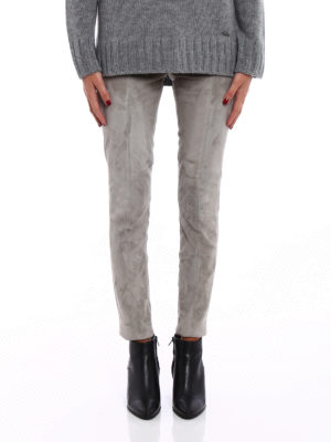 Woolrich: leather trousers online - Soft suede leggings
