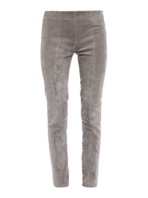 Woolrich: leather trousers - Soft suede leggings