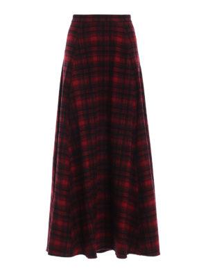 WOOLRICH: Gonne Lunghe - Gonna lunga e ampia in lana a quadri