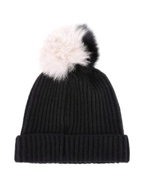 WOOLRICH: berretti online - Berretto in misto lana con pompon bicolore