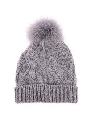 WOOLRICH: berretti online - Berretto in lana con targhetta in metallo
