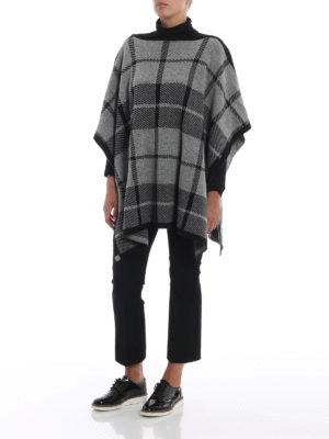 WOOLRICH: Mantelle e poncho online - Poncho in misto lana jacquard a quadri
