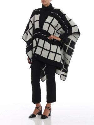 WOOLRICH: Mantelle e poncho online - Cappa in lana a quadri con cintura