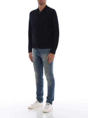 WOOLRICH: cardigan online - Cardigan in lana modello bomber con zip