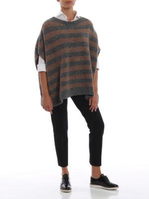 WOOLRICH: maglia collo rotondo online - Pull a righe in misto alpaca