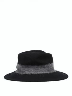 WOOLRICH: cappelli online - Cappello in feltro con fascia a contrasto