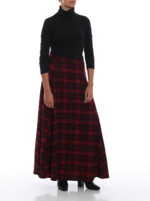 WOOLRICH: Gonne Lunghe online - Gonna lunga e ampia in lana a quadri