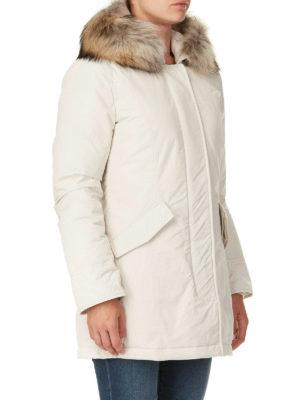 WOOLRICH: cappotti imbottiti online - Piumino con pelliccia  di procione asiatico