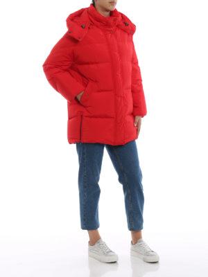 WOOLRICH: cappotti imbottiti online - Piumino Aurora Puffy rosso opaco