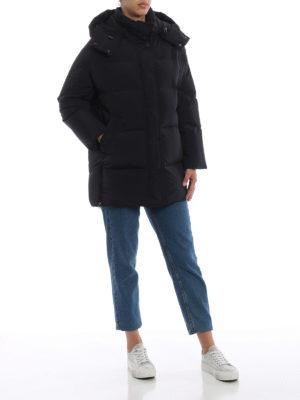 WOOLRICH: cappotti imbottiti online - Piumino Aurora Puffy nero opaco