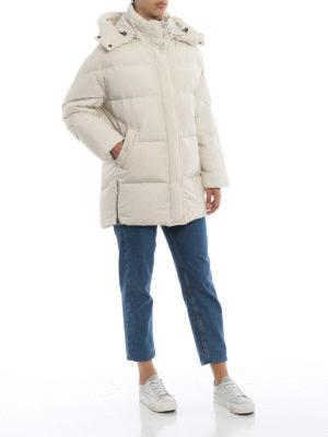 WOOLRICH: cappotti imbottiti online - Piumino Aurora Puffy bianco opaco
