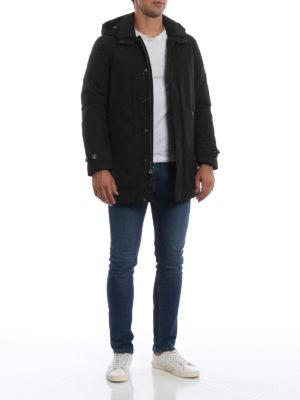 WOOLRICH: cappotti imbottiti online - Piumino nero City Coat