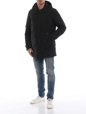WOOLRICH: cappotti imbottiti online - Piumino in nylon nero City Coat